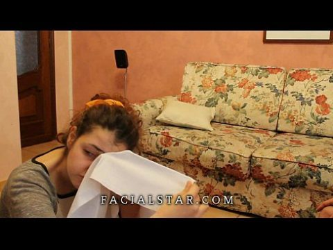Forced  Rimming and facial for italian teen