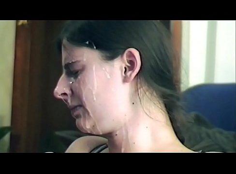 Teens facial Crying cum